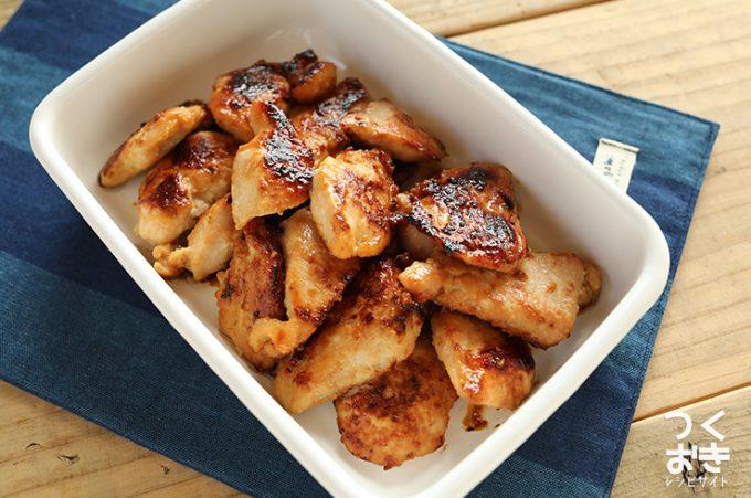 鶏むね肉のはちみつ味噌漬け焼きのレシピ