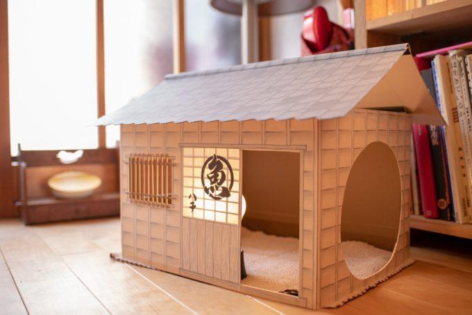 イラストレーター・ユカワアツコさんが作った猫用ハウス