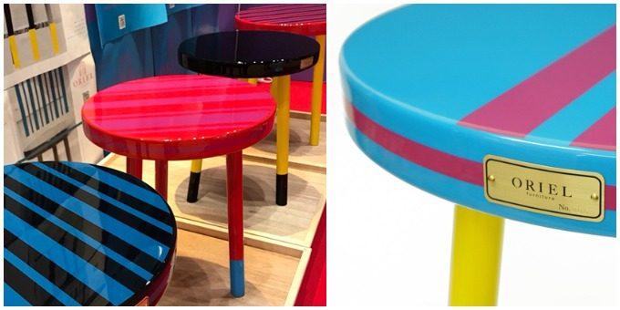ORIEL furnitureのおしゃれなサイドテーブル、ナンバープレート