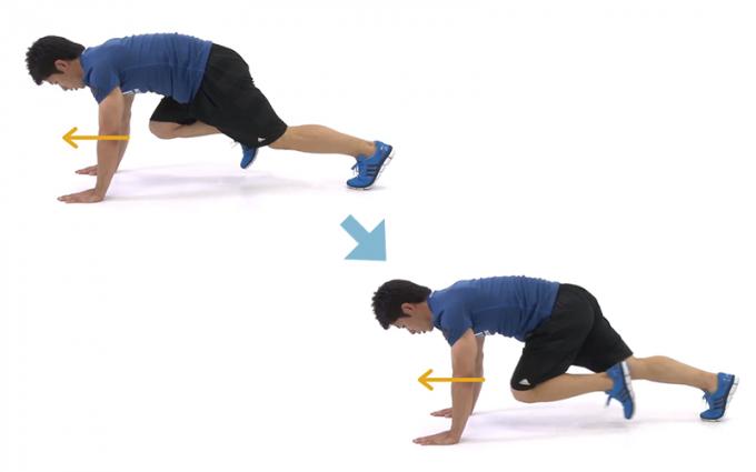 ウエストの引き締めに。体幹を鍛える、1分間エクササイズ「ランナー」