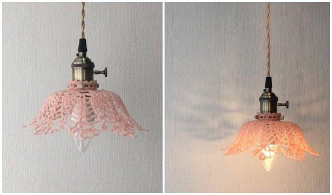 おすすめランプシェード,arles(アルル)のお花のようなランプシェード