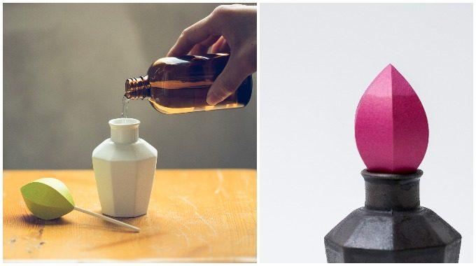 2種類の色と香りのアロマディフューザー「かぐわし」