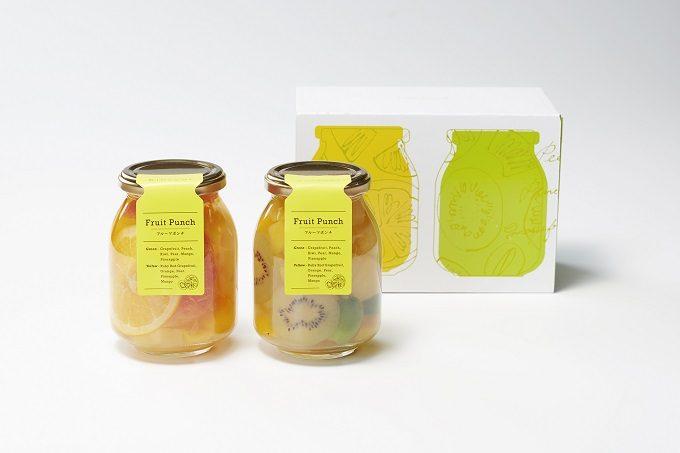 パティスリーキハチのおしゃれな瓶詰めフルーツポンチ1