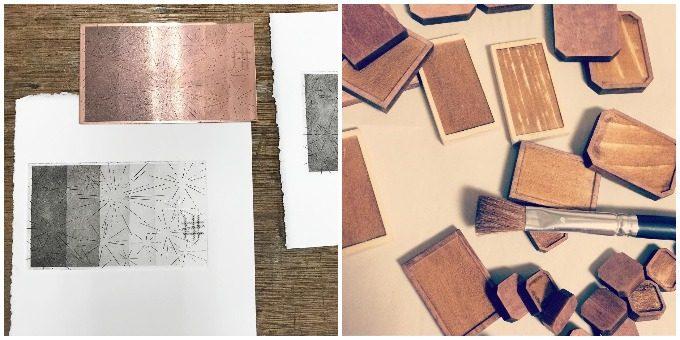 paper piece press(ペパピプ)のアクセサリー作成工程