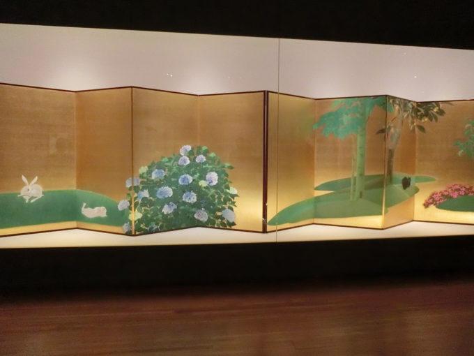 速水御舟(はやみ ぎょしゅう)の「翠苔緑芝」1