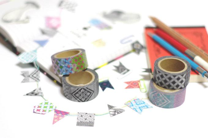 大島紬を取り入れた「abcom design products」のマスキングテープ3
