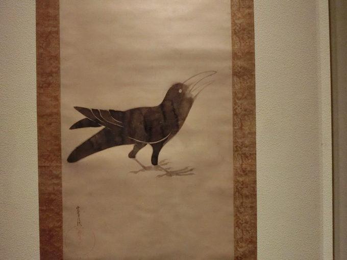 俵屋宗達(たわらや そうたつ)の作品「烏図」