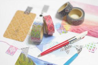 1300年続く歴史。大島紬を取り入れた「abcom design products.」のマスキングテープ