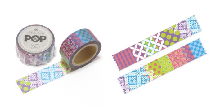 大島紬を取り入れた「abcom design products.」のマスキングテープ1