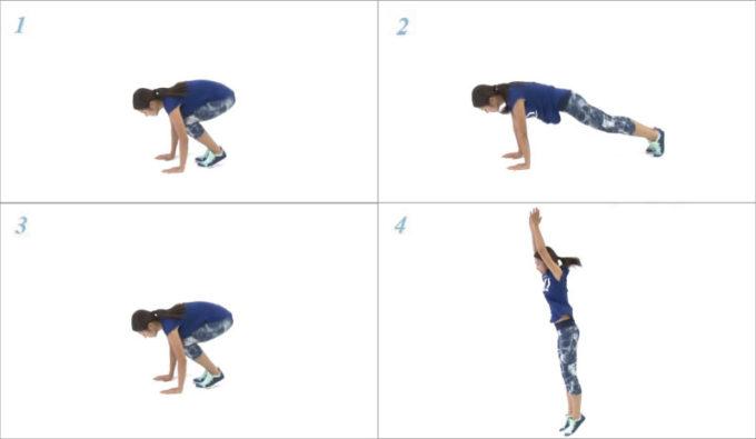 下半身の引き締めに効果が期待できる。体幹エクササイズ「バービージャンプ」