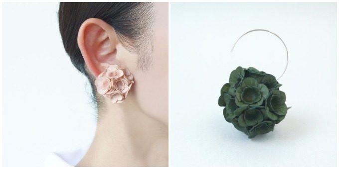 おすすめアクセサリー、可愛らしいデザインの「SIWA | 紙和」のピアスとイヤリング