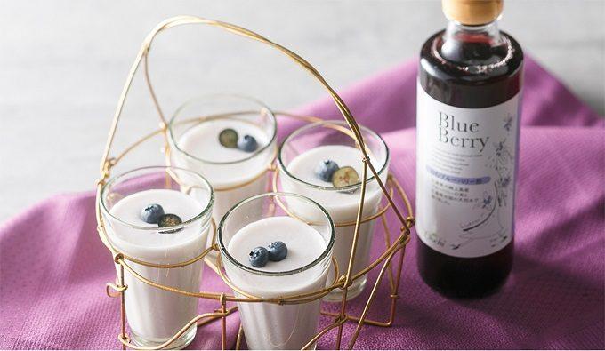 シェリーテッラの「のむブルーベリー酢」を使ったスイーツ