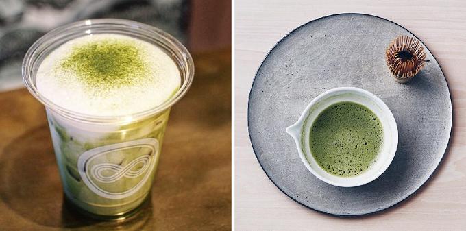 日本茶スタンド八屋の煎茶ラテ
