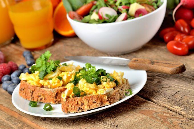 朝食としての洋食のとり方