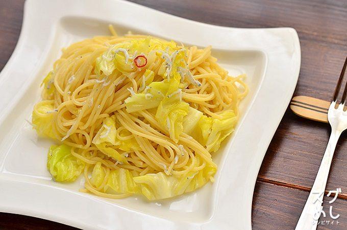「キャベツとしらすのペペロンチーノ」のレシピ