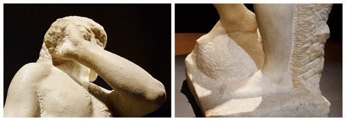 東京のおすすめ展覧会「ミケランジェロと理想の身体」で展示される《ダヴィデ=アポロ》の未完成と思われる部分