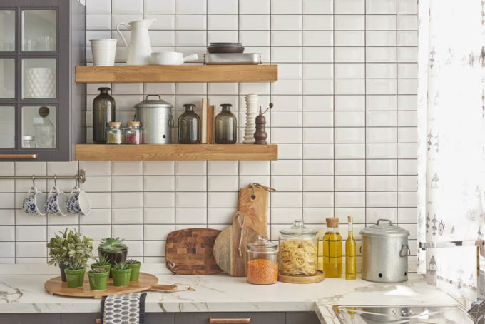 使いやすく収納されたキッチン