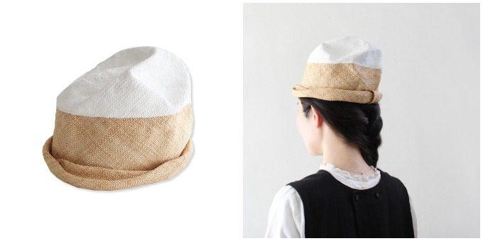 夏におすすめchisaki<チサキ>の個性的なフォルムの帽子