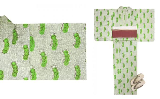 SOLOLA<ソロラ>の豆紋の浴衣