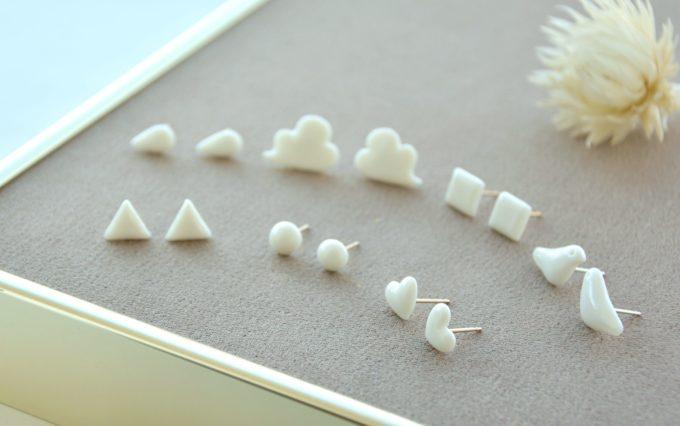 hatokumoの白磁を使ったアクセサリー3