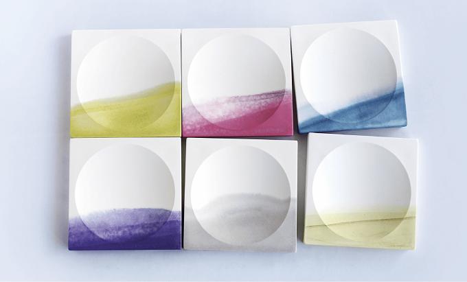 草木染めで色を施した「KUSAKI」の器シリーズ