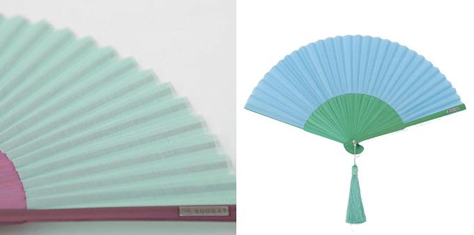 大人女子におすすめ「西川庄六商店」の2色使いのバイカラーの扇子