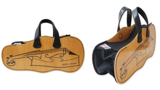 Aiken Drumエイキンドラムの六角形のウッドバッグ(バイオリンケース)
