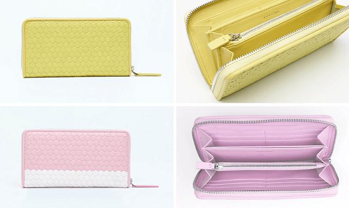大人女子におすすめ、「YUKIZNA」の大人かわいい革財布、単色とバイカラー