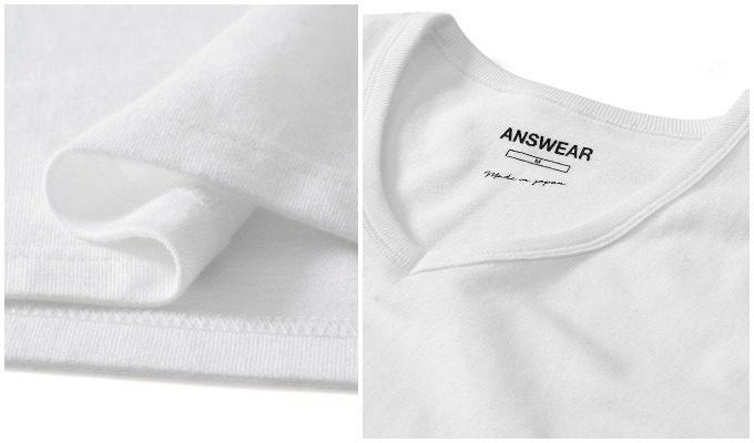 「ANSWEAR(アンサー)」のセミオーダーの白シャツ2