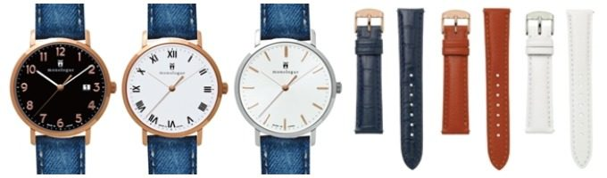 monologue<モノローグ>のおすすめ限定腕時計のお洒落な文字盤3種類と、交換用レザーベルト