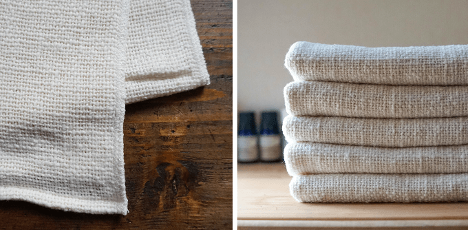 手紡ぎ木綿専門店「益久染織研究所」のおすすめタオル「和紡健康タオル」