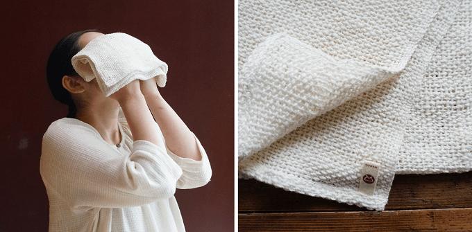 手紡ぎ木綿専門店「益久染織研究所」のおすすめタオル「和紡あら織りタオル」