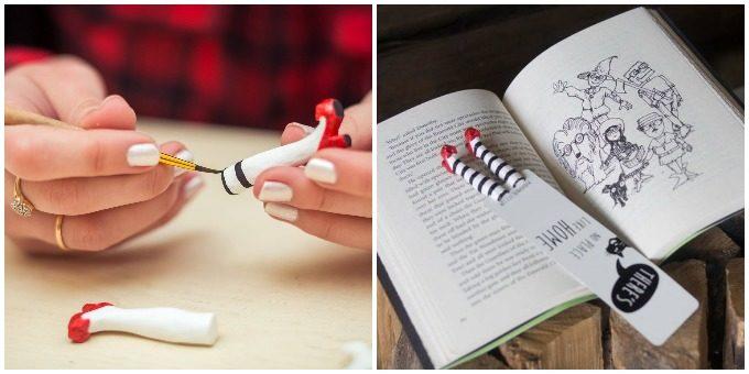 ウクライナで手作りされている人が挟まったようなデザインの栞「My Bookmark<マイブックマーク>」