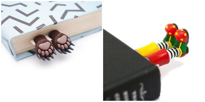 猫が本に挟まった!?読書がもっと楽しくなる、「My Bookmark」のユニークな栞たち