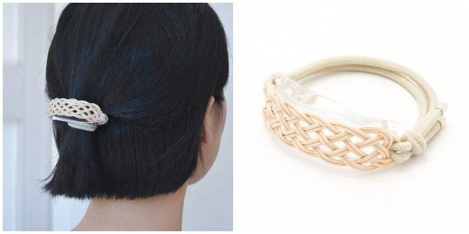 大人女子におすすめ「SIRI SIRI(シリシリ)」の上品なアクセサリー、ガラスと籐のヘアアクセサリー