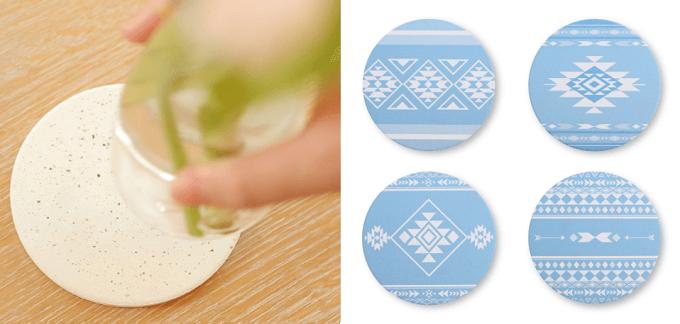 東京卵日和の卵殻から作られた吸水性の良いコースター