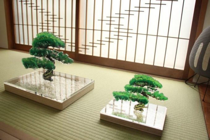 おしゃれな樹脂製品が集まるショップ「toumei」のアクリル製の盆栽