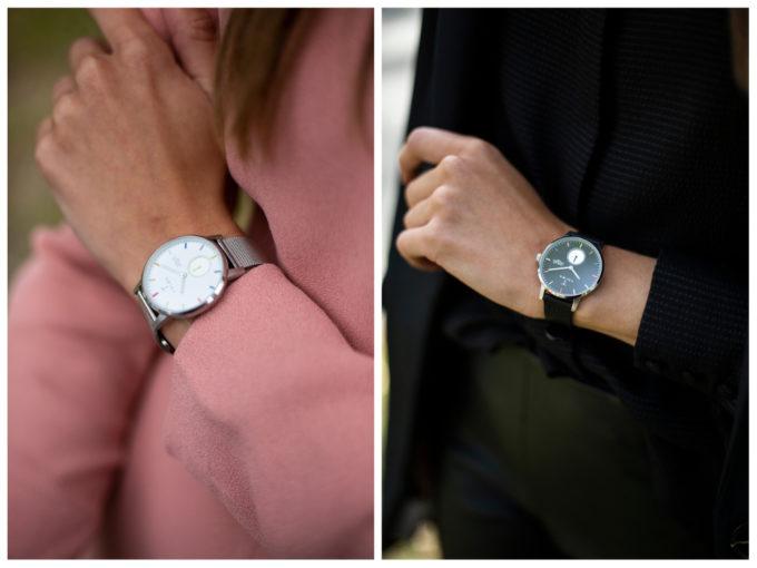 大人女子におすすめのシンプルで独特の色使いがおしゃれな「TRIWA(トリワ)」の腕時計の着画