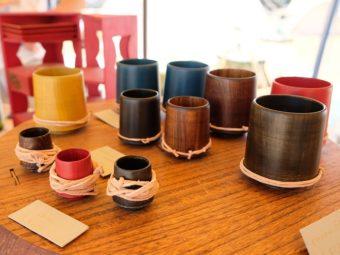 アウトドアシーンで使える漆器。美しいフォルムが魅力の「NODATE mug」