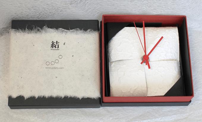 ギフトにもおすすめ和紙を使った「YOBOTY(ヨボティー)」のおしゃれな壁時計