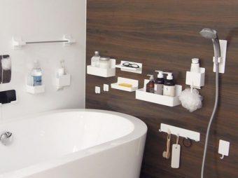 磁石で簡単に取り外し。お風呂がスッキリかたづくシンプルな収納用品「磁着SQ」