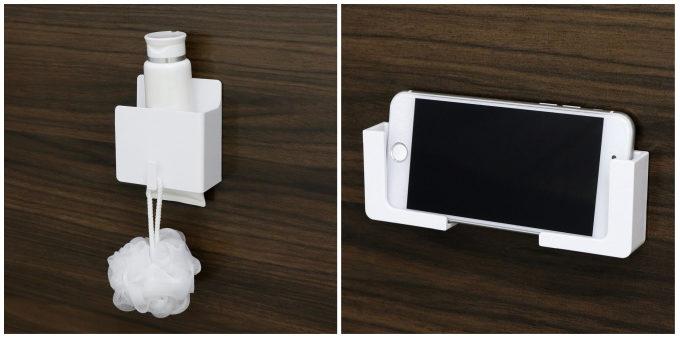 お風呂の収納におすすめ、磁石でくっつく収納用品「磁着SQ」使用例