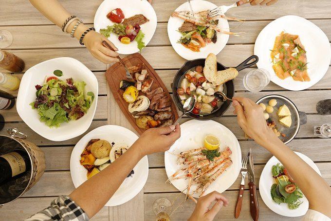 長野・蓼科のおすすめスポット「もりぐらし」のBBQ場の料理