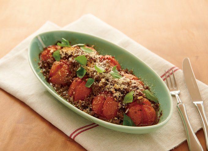 トマトとニンジンを使った栄養満点のおすすめレシピ、トマトのオーブン焼き