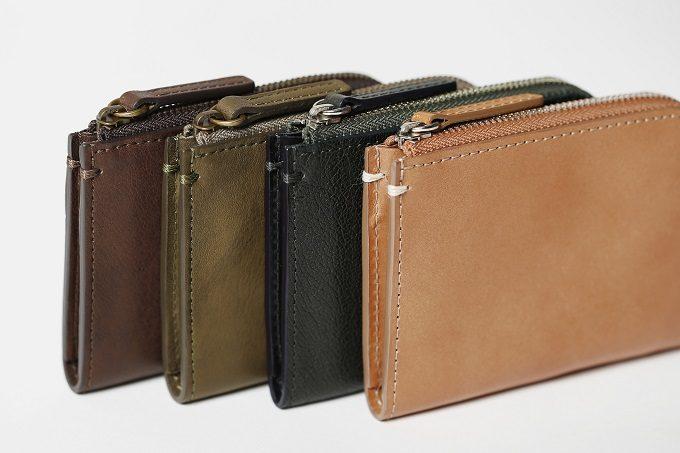 シンプルで機能的な「土屋鞄製造所」の革の限定ミニ財布、カラー展開
