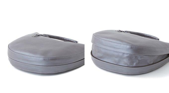 大人女子におすすめ、「マザーハウス」の上品なレザーバッグ「Tsuiakari -月明り-」のマチ部分
