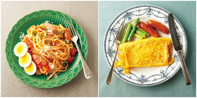 糖質オフの麺類メニュー「えのきスパのナポリタン」「ピカタフレンチトースト」