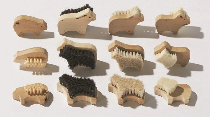 職人が作る上質ボディブラシ、宇野刷毛ブラシ製作所のかわいい動物の形の「アニマルブラシ」1
