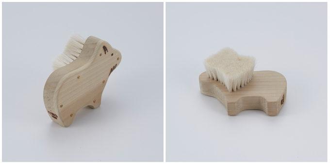 宇野刷毛ブラシ製作所のかわいい動物の形の「アニマルブラシ 山羊」