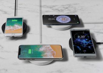 ポンと置くだけで高速充電ができる。「ベルキン」のスマートフォン充電パッド